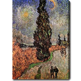 Vincent van Gogh Road with Cypress and Star Oil on Canvas Art