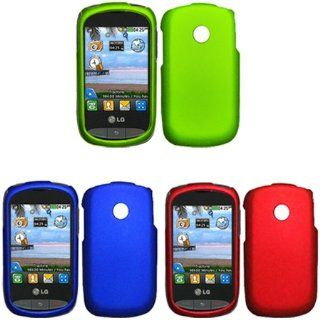 iFase Brand LG 800G Combo Rubber Blue Protective Case