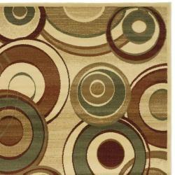 Lyndhurst Collection Circ Ivory/ Multi Rug (7 Square)