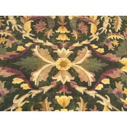 Indian William Morris Green/ Brown Rug (9 x 132)