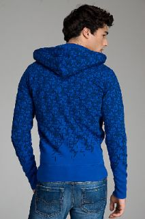 Diesel Salcosi bis Black On Royal Blue Zip Hoodie for men
