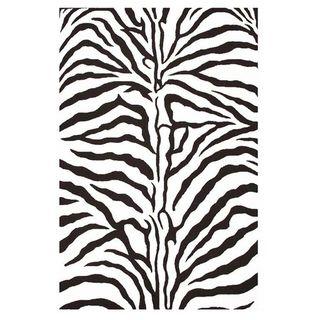 Hand tufted Zebra Stripe Wool Rug (5 x 8)