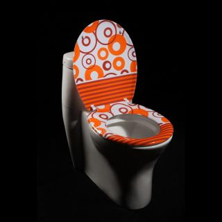 Orange Circles Designer Melamine Toilet Seat Cover Today $28.09 5.0