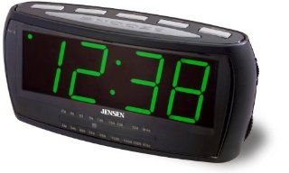 Jensen JRC 208 AM/FA Alarm Clock Radio with 1.8 Inch Green
