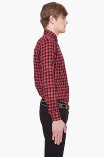 United Stock Dry Goods Red & Black Plaid Shirt for men