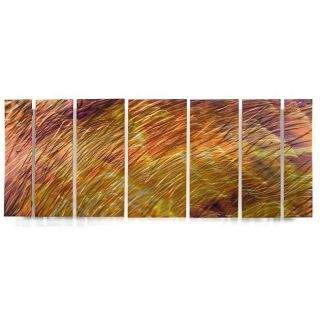 Ash Carl Sunset Field 7 panel Metal Wall Art Today $309.99