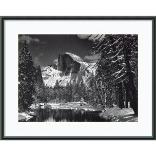 Ansel Adams Half Dome, Winter   Yosemite, 1938 Framed Print