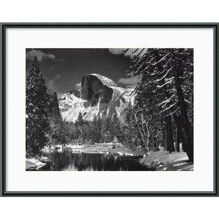 Ansel Adams Half Dome, Winter   Yosemite, 1938 Framed Print