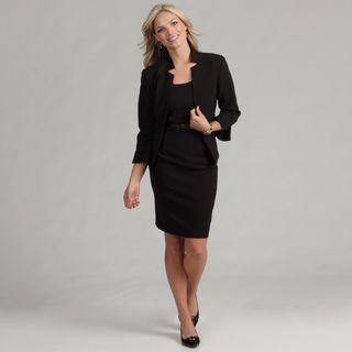 Jessica Howard Womens Black 2 piece Belted Dress FINAL SALE