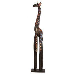 Artist Giraffe Statue Sculpture Hand painted 40Tall Home