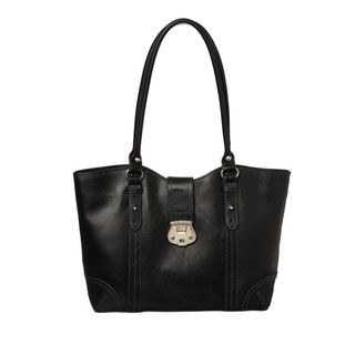Etienne Aigner Venice Leather Work Tote Bag