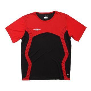 Coloris  rouge et noir. Maillot de Foot UMBRO Enfant, 100 % polyester