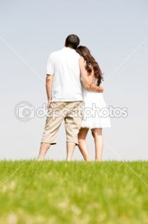 Rear view of romantic young couple  Stock Photo © get4net #1148716