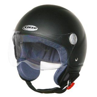 Xpeed Helmet XF 207 Solid Gloss Helmet (Matt Black, X Small)