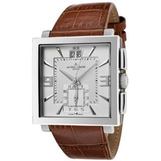 Jacques Lemans Mens GU207B Geneve Collection Quadrus Brown Leather