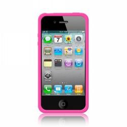 Mivizu Hot Pink Apple iPhone 4, 4S, 4GS Generation Silicone Skin Case