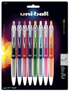 uni ball 207 Retractable Medium Point Gel Pens, 8 Colored