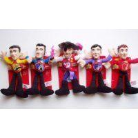 The Wiggles Dolls Set of 5   Plush Figures   Sam, Anthony