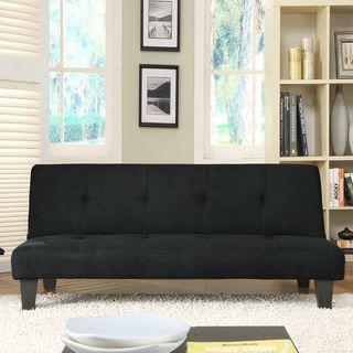 Bento Klic Klac Mini Black Microfiber Futon Sofa Bed