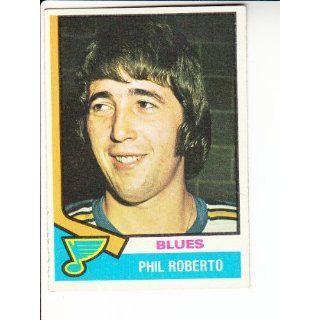 1974 75 Topps #208 Phil Roberto Hockey: Everything Else