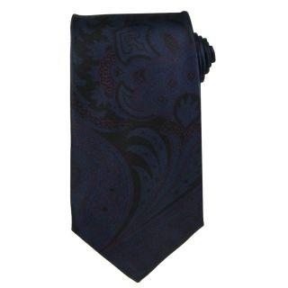 Versace Mens Acanthus Leaf And Greek Key Silk Tie