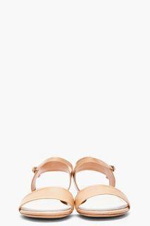 Maison Martin Margiela Tan Leather Flat Sandals for women