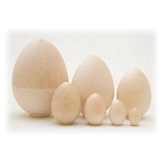 Unpainted Blank Nesting Egg 7pc./6 Everything Else