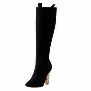 NYLA Womens Dronas Black Tall Boots FINAL SALE