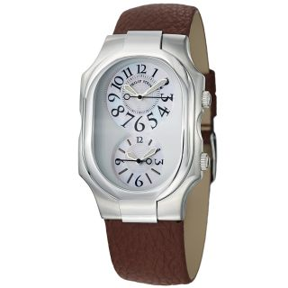 Philip Stein Womens Signature Mother Of Pearl Dial Dual Time Watch