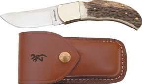 Browning Skinner Lockback Folding Hunter Stag Handle Knife