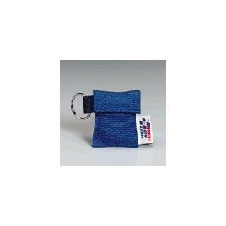 CPR face shield on key chain, BLUE Industrial