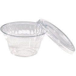 WNA Comet 5 Oz Cold Plastic Dessert Cup, Clear, Pack of