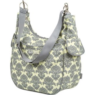 The Bumble Collection Chloe Convertible Diaper Bag in Yellow Filigree
