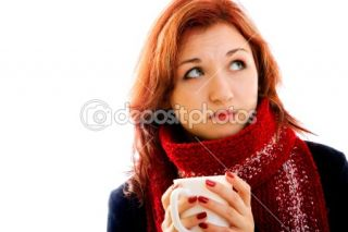Sad girl in winter clothes  Stock Photo © Alena Root #1179168