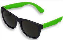 Green Neon & Black Sunglasses Wayfarer 80s Clothing