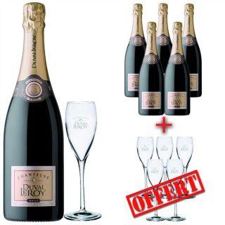 Duval Leroy Brut (6 bouteilles) + 6 flûtes offertes   Champagne Brut