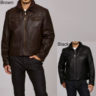 MICHAEL Michael Kors Mens Monroe Leather Jacket
