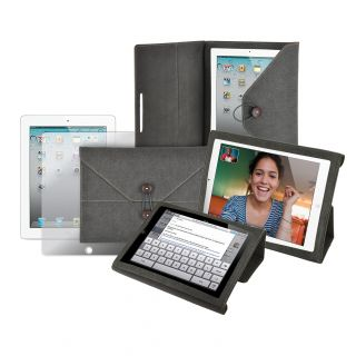 Premium Apple iPad 2 Corduroy Carrying Folder Case with Screen