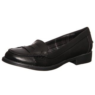 MIA 2 Womens Norman Black Slip on Loafers