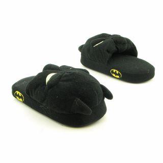 Batman Boys Scuff Youth Black Slippers (Size 11)
