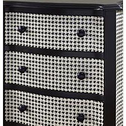 Hand painted Black and White Houndstooth Accent Chest