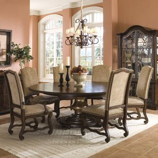 Coronado 7 piece Round Table Dining Set with Arm Chairs