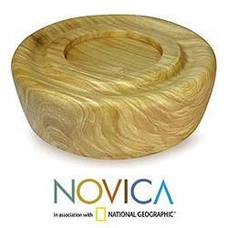 Prima Vera Wood Imagination Serving Bowl (Medium) (Guatemala