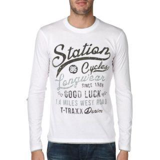 TRAXX T Shirt Homme Blanc Blanc   Achat / Vente T SHIRT T TRAXX T