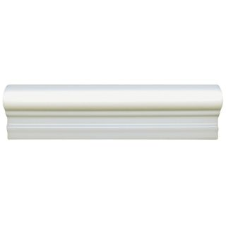 SomerTile 2x8 inch Travessa Biselada Blanco Ceramic Moldura Trim Tile