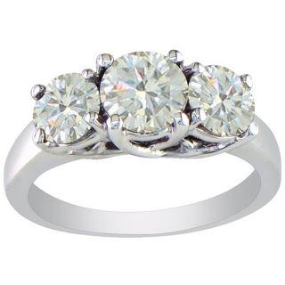 14k White Gold 2ct Diamond Three stone Ring (I J, I1 I2)