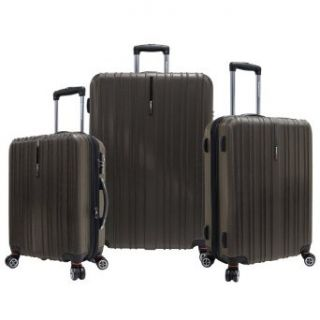 Travelers Choice Tasmania 3 Piece Luggage Set, Dark Brown