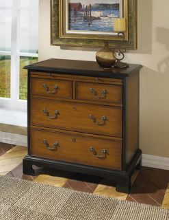 Hand painted Espresso Accent Chest