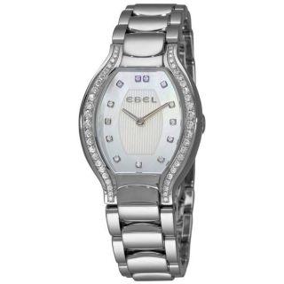 Ebel Womens Beluga Tonneau Grande Mother of Pearl Diamond Watch