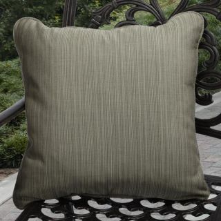 Clara Outdoor Textured Green Throw Pillows Made with Sunbrella (Set of